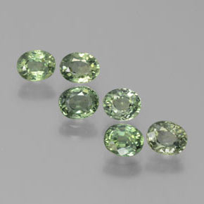 Green Sapphire Gem - 0.6ct Oval Facet (ID: 383511)
