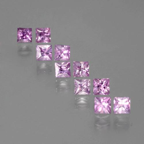 Purple Pink Sapphire Gem - 0.2ct Princess-Cut (ID: 388803)