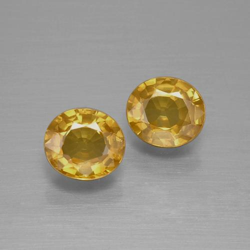 Medium-Dark Golden Zafiro Gema - 0.8ct Forma ovalada (ID: 393334)