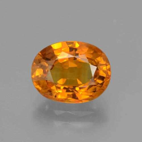 3.65 ct Oval Facet Deep Orange Sapphire Gemstone 10.18 mm x 7.9 mm (Product ID: 393895)