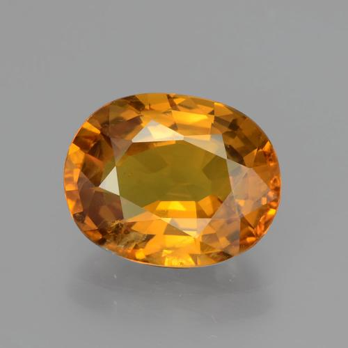 Yellow Golden Sapphire Gem - 4.3ct Oval Facet (ID: 393902)