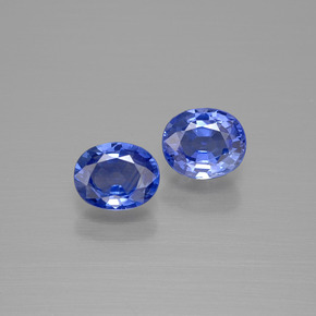 Blue Sapphire Gem - 0.8ct Oval Facet (ID: 396617)
