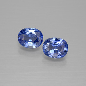 True Blue Sapphire Gem - 0.7ct Oval Facet (ID: 396624)