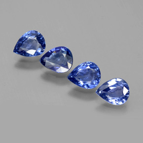 0.66 ct Pear Facet Blue Sapphire Gemstone 6.11 mm x 4.9 mm (Product ID: 396997)