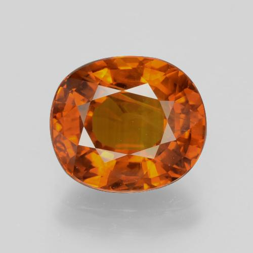Orange Sapphire Gem - 5ct Oval Facet (ID: 398771)