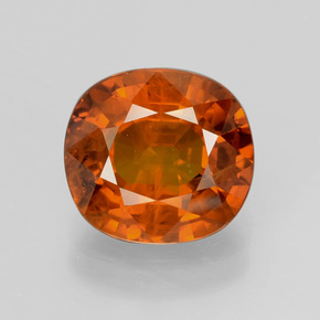 4.84 ct Cushion-Cut Orange Sapphire Gemstone 10.13 mm x 9.4 mm (Product ID: 398772)