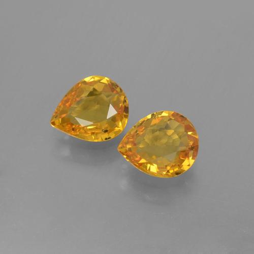 Yellow Golden Sapphire Gem - 0.7ct Pear Facet (ID: 399979)