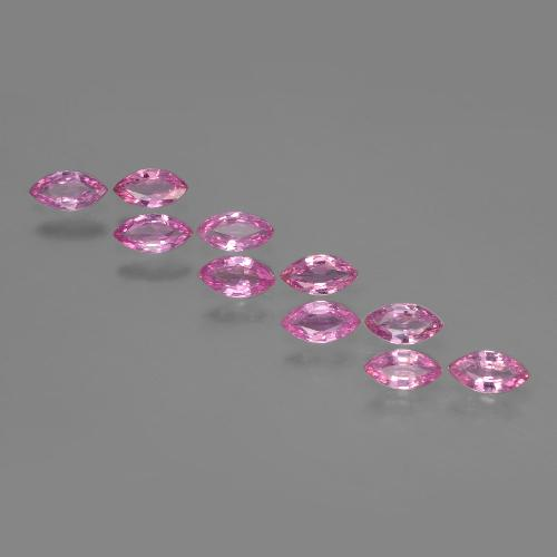 Hot Pink Sapphire Gem - 0.2ct Marquise Facet (ID: 400431)