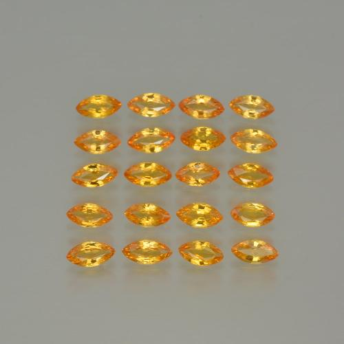 Yellow Sapphire Gem - 0.2ct Marquise Facet (ID: 401323)