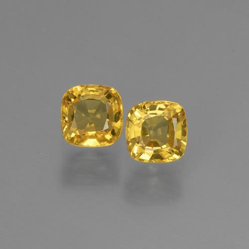 Golden Sapphire Gem - 0.5ct Cushion-Cut (ID: 405998)