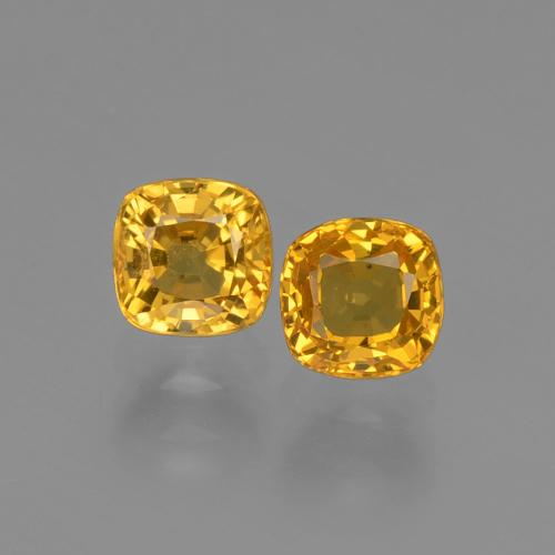 0.6ct Cushion-Cut Apricot Orange Sapphire Gem (ID: 406016)