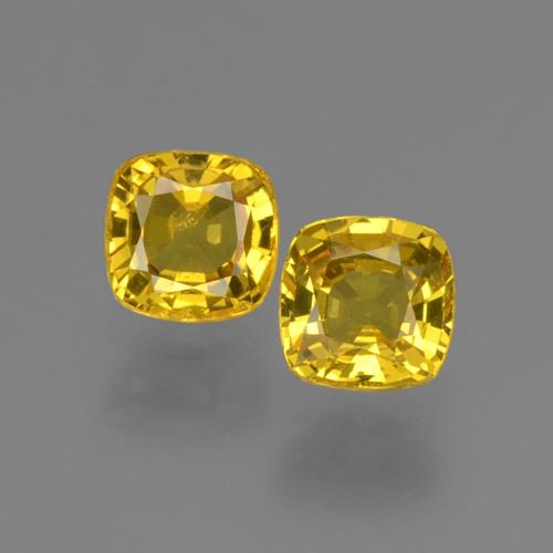 Medium Yellow Zafiro Gema - 0.5ct Corte en Forma Cojín (ID: 406041)