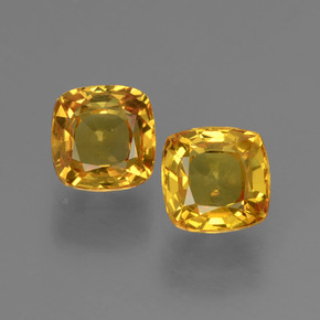 Yellow Golden Sapphire Gem - 0.6ct Cushion-Cut (ID: 406045)
