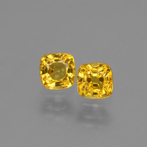 Yellow Golden Sapphire Gem - 0.5ct Cushion-Cut (ID: 406066)