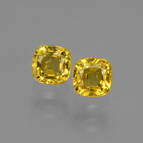 Yellow Golden Sapphire Gem - 0.5ct Cushion-Cut (ID: 406072)