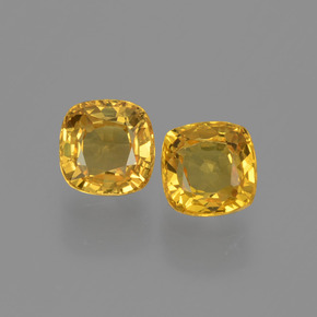 Yellow Golden Sapphire Gem - 0.6ct Cushion-Cut (ID: 406095)