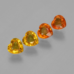 thumb image of 2.1ct Heart Facet Yellow Golden Sapphire (ID: 406450)