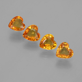 0.4ct Heart Facet Yellow Golden Sapphire Gem (ID: 406561)