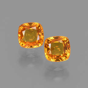 Yellow Golden Sapphire Gem - 0.5ct Cushion-Cut (ID: 406679)