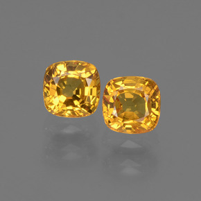 0.5ct Cushion-Cut Golden Orange Sapphire Gem (ID: 406803)