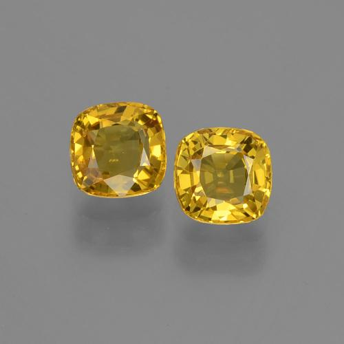 Yellow Golden Sapphire Gem - 0.5ct Cushion-Cut (ID: 406804)