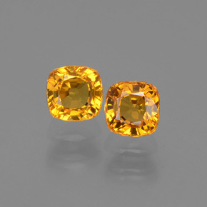 0.5ct Cushion-Cut Bright Orange Sapphire Gem (ID: 406806)