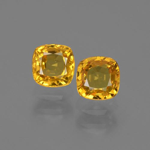 0.6ct Cushion-Cut Apricot Orange Sapphire Gem (ID: 406812)
