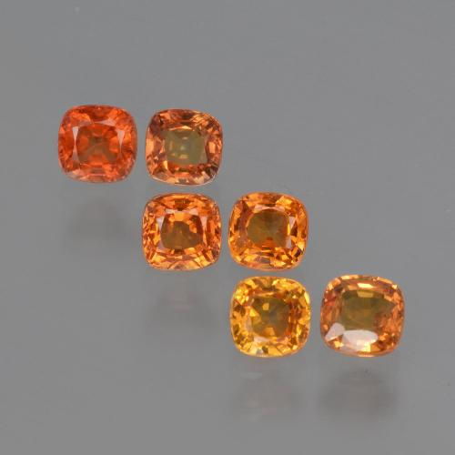 0.4ct Cushion-Cut Bright Orange Sapphire Gem (ID: 407935)