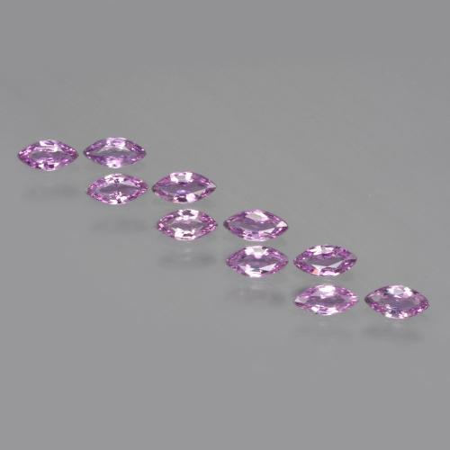 Pinkish Violet Sapphire Gem - 0.1ct Marquise Facet (ID: 410503)