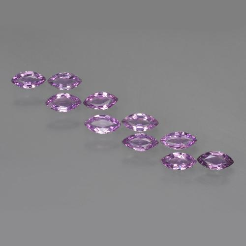 Pinkish Violet Sapphire Gem - 0.2ct Marquise Facet (ID: 410505)