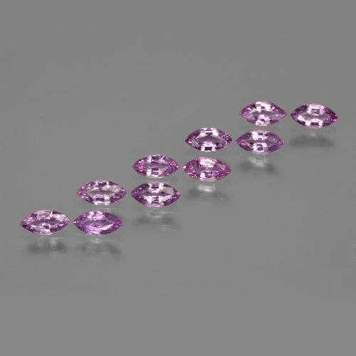 Pinkish Violet Sapphire Gem - 0.2ct Marquise Facet (ID: 410668)