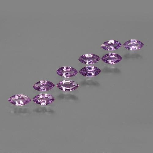 Pinkish Purple Sapphire Gem - 0.2ct Marquise Facet (ID: 410670)