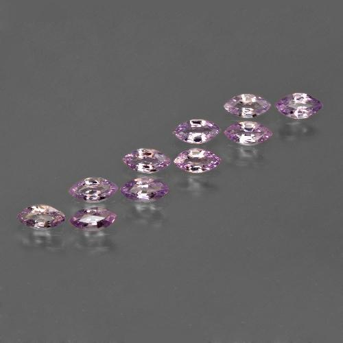 Pinkish Violet Sapphire Gem - 0.2ct Marquise Facet (ID: 410674)