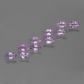 Pinkish Purple Sapphire Gem - 0.1ct Marquise Facet (ID: 410676)