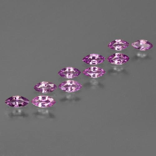Pinkish Violet Sapphire Gem - 0.2ct Marquise Facet (ID: 410678)