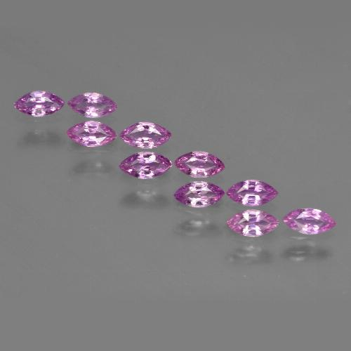 Multi Pink Sapphire Gem - 0.2ct Marquise Facet (ID: 410739)
