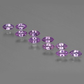 Pinkish Purple Sapphire Gem - 0.2ct Marquise Facet (ID: 410747)