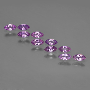 Pinkish Purple Sapphire Gem - 0.2ct Marquise Facet (ID: 410750)