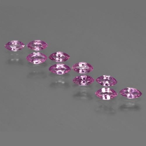 Pinkish Purple Sapphire Gem - 0.2ct Marquise Facet (ID: 410788)