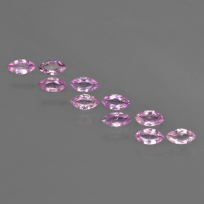 Pink Sapphire Gem - 0.2ct Marquise Facet (ID: 410970)