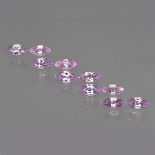 Light Pinkish Violet Purple Sapphire Gem - 0.2ct Marquise Facet (ID: 410977)