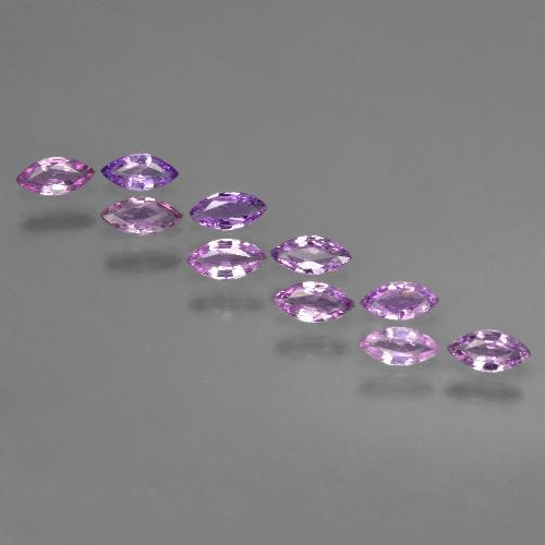 Pinkish Purple Sapphire Gem - 0.1ct Marquise Facet (ID: 411045)