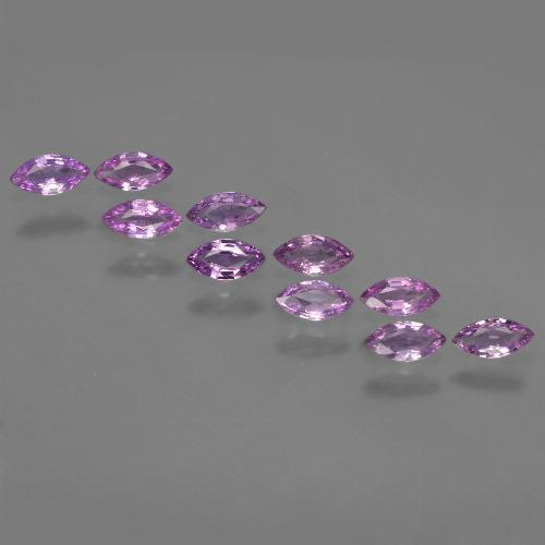 Pinkish Purple Sapphire Gem - 0.2ct Marquise Facet (ID: 411050)