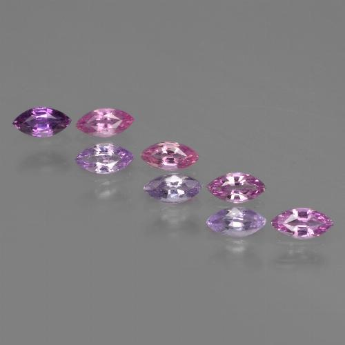 Pinkish Violet Purple Sapphire Gem - 0.2ct Marquise Facet (ID: 411078)