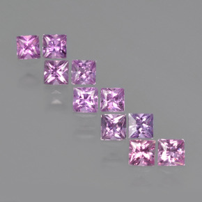 Purple Pink Sapphire Gem - 0.2ct Princess-Cut (ID: 411257)
