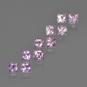 Medium-Light Pink Sapphire Gem - 0.2ct Princess-Cut (ID: 411810)