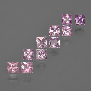 Very Light Pink Sapphire Gem - 0.2ct Princess-Cut (ID: 412157)