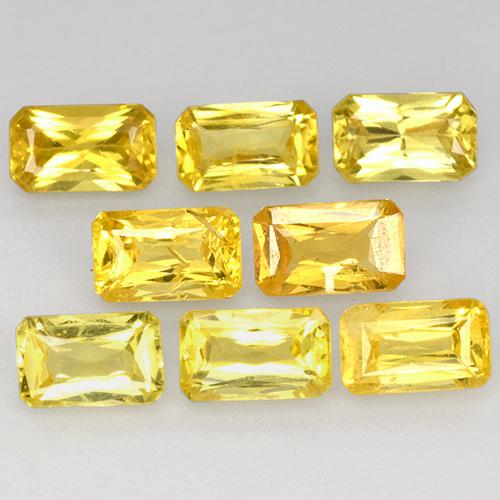 Yellow Golden Sapphire Gem - 0.4ct Octagon / Scissor Cut (ID: 412519)