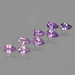 Pinkish Purple Sapphire Gem - 0.2ct Pear Facet (ID: 413742)