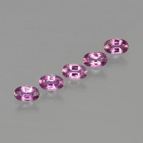 Purple Pink Sapphire Gem - 0.3ct Oval Facet (ID: 414754)